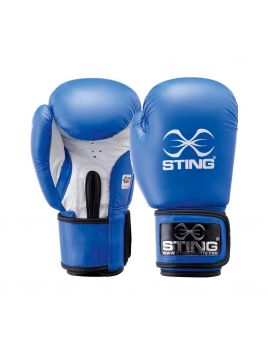 Sting S2AG-0312 Competition Leather Boxing Gloves Aiba Blue