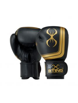 Sting SOBG-1713 Orion Competition Premium Boxing Glove Black / Gold
