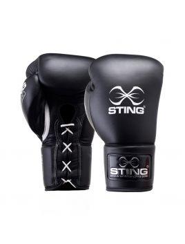 Sting SVBG-L115 Viper Pro Fight Boxing Glove (L) Black